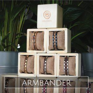 Holzkern Armband Kollektionen